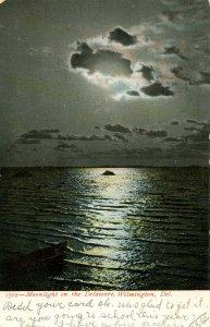 DE - Wilmington. Moonlight on the Delaware River