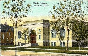 Public Library Mankato Minn. Minnesota Vintage Postcard Standard View Card