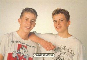 British soap opera actors Granada Television postcard