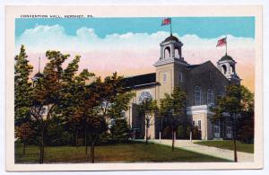 1915-1930 Hershey PA Convention Hall White Border RARE Antique Tichnor Postcard