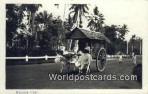 Malaysia, Malaya Bullock Cart Real Photo Bullock Cart