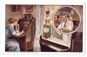 Bell Telephone Advertising Postcard AT&T When Servants Fail UDB