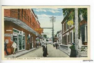St Augustine FL Busy St George Street View Postcard