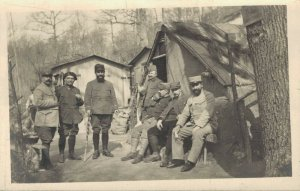 Military - Group Picture Postcard RPPC WW1  03.02