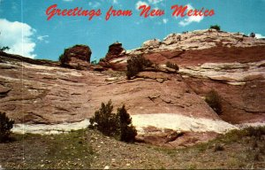 New Mexico Greetings Showing Carved Rock Stairway To Indian Look-Out Point At...
