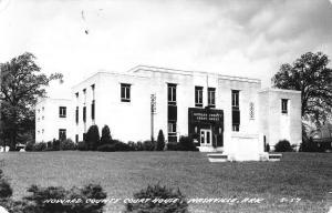 Nashville Arkansas Howard Court House Real Photo Antique Postcard K29379