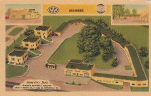 WYTHEVILLE , Virginia, 30-40s ; Spring Court Motel