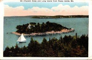 Maine Pumkin Knob and long Island From Peaks Island