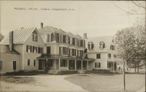 North Woodstock NH Russell House c1910 Real Photo Postcard