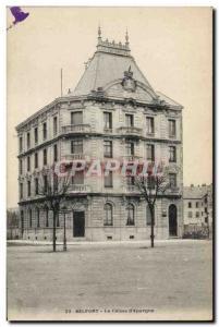 Old Postcard Bank Caisse d & # 39Epargne Belfort