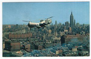 Mid Town Skyline showing one of New York Airways' Helicopters