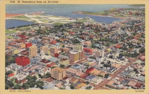 ST. PETERSBURG from an Air-Liner, Florida, PU-1947
