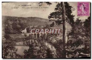 Old Postcard Panorama Clecy on the Orne and the Viaduct