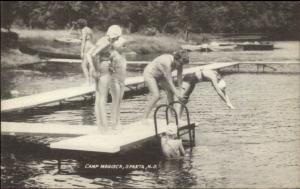 Sparta NJ Girls Swimming Camp Mogisca Postcard jrf