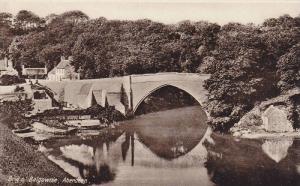 Bridge, Brig o' Balgownie, Aberdeen, Scotland, UK, 1910-1920s