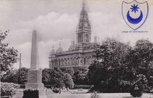 PORTSMOUTH , England , 00-10s ; Town Hall from Victoria Park ; TUCK 1975
