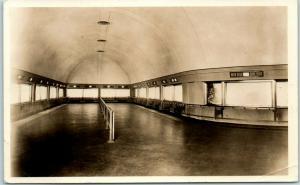 Chicago, Illinois RPPC Photo Postcard JOHN G. SHEDD AQUARIUM Interior View 1930s