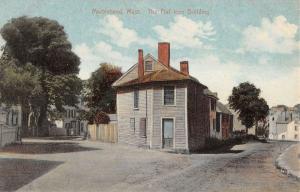 Marblehead Massachusetts Flat Iron Building Antique Postcard K14939