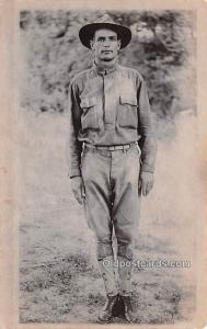 Military Man Military Real Photo Soldier Unused