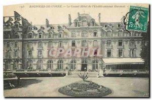 Old Postcard Bagnoles de L'Orne Grand Hotel of the Thermal baths
