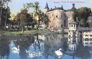 Porte de Gand, Gentpoort Bruges Belgium Postal Used Unknown