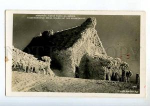 247181 CZECH Krkonose ice hut Vintage photo postcard