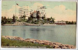 Canada - Ontario. J.W.Jackson's Res, Keewayden, 1000 Island Islands