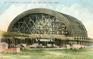 UT - Salt Lake City.  Construction of Tabernacle Roof