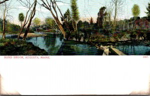 Maine Augusta Scene On Bond Brook