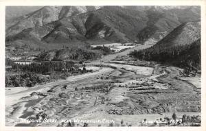 F1/ Weaverville California Postcard Real Photo RPPC c50s Birdseye Gold Dredge 2
