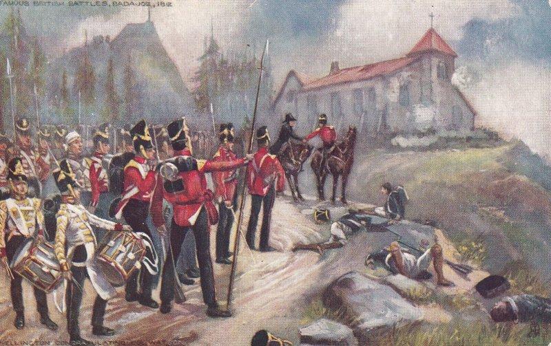 Famous British Battles: Badajoz ...00-10s ; TUCK 9135