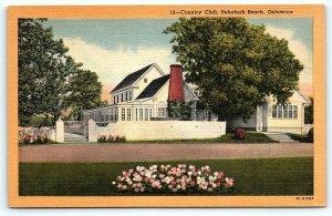 Postcard DE Rehoboth Beach Country Club Vintage Linen D11