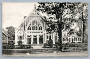 LONG ISLAND NY SAYVILLE ST.LAWRENCE CHURCH ANTIQUE POSTCARD