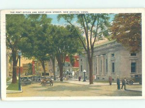 W-border POST OFFICE SCENE New Britain Connecticut CT AF1088