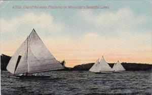 One Of The Many Pleasures On Minnesota's Beautiful Lakes Minnesota 1913