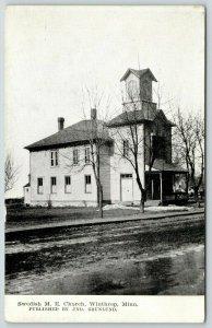Winthrop MN~Swedish United Methodist Episcopal Church~Belfry w/4-Gable Roof 1910