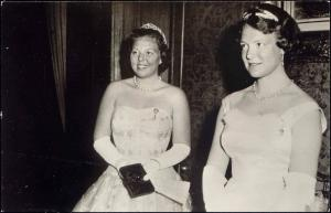 Dutch Princesses (Later Queen) Beatrix and Irene (1958) RPPC