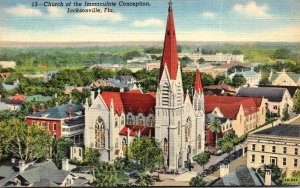 Florida Jacksonville Church Of The Immaculate Conception 1943 Curteich