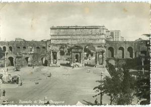 Italy, Rome, Roma, Piazzale di Porta Maggiore, 1950 used real photo Postcard