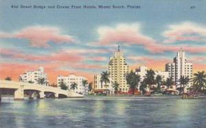 Florida Miami Beach D C 33 Forty First Street Bridge Over Indian Creek