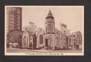 TX Travis Park Methodist Church San Antonio Texas Postcard Carte Postale