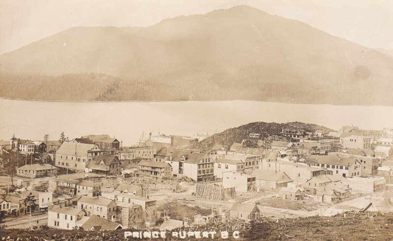 RP, PRINCE RUPERT , B.C. , Canada , 1908 ; Ongoing reconstruction after regrade