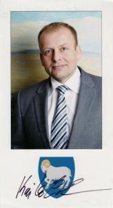 Kaj Leo Johannesen Faroe Islands President Hand Signed Photo