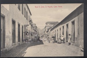 Cape Verde Postcard - Rua S.Joao, S.Vicente, Cabo Verde  DC2543