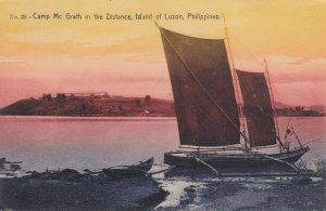 LUZON , Philippines , 1909 ; Sail Boat & Camp McGrath