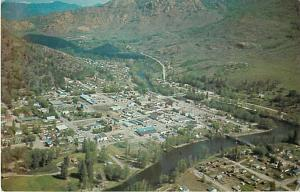 Air View of Grand Forks British Columbiaa BC Canada Chrome