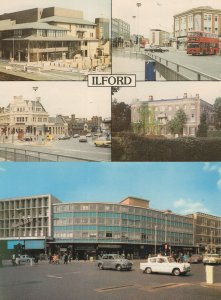 The Broadway Library Ilford London Bus 2x Postcard s