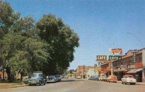 MOUNTAIN HOME, ID Main Street Scene DeMeyer Drugs c1950s Vintage Postcard