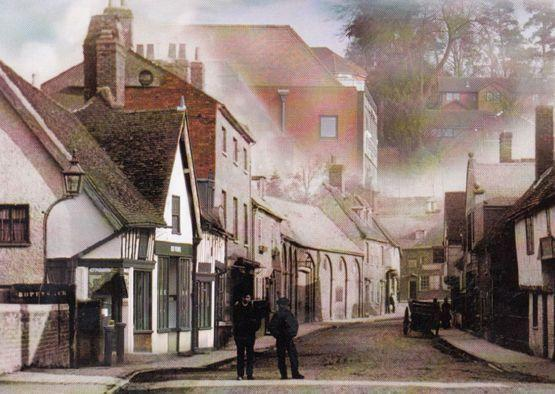 Elderly Men Chatting at Bridge Street Hitchin Hertfordshire Postcard