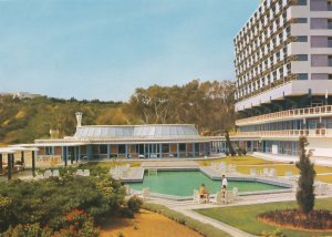 Waiter by Guests Swimming Pool Hotel Amilcar Tunisia Postcard